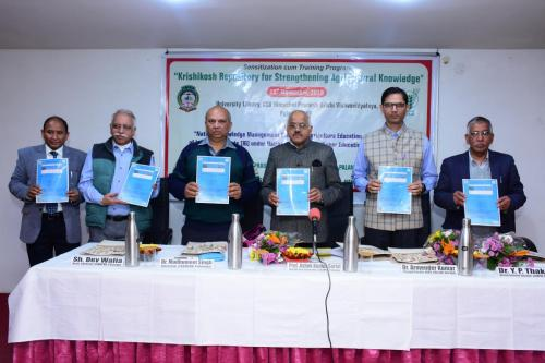 "Sensitization cum Training program on ""Krishikosh Repository for Strengthening Agricultural Knowledge "" at CSK Himachal Pradesh Krishi Vishvavidyalaya, Palampur, HP on 15th November, 2019"