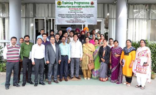 Training programme at Punjab Agricultural University, Ludhiana during 18-19 March, 2019