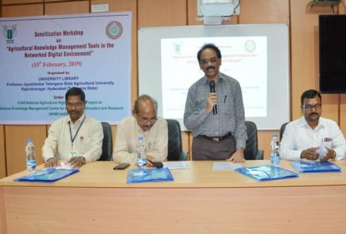 Sensitization Workshop on Agricultural Knowledge Management Tools in Networked Digital Environment at College of Agriculture, Rajendranagar on 15th February, 2019