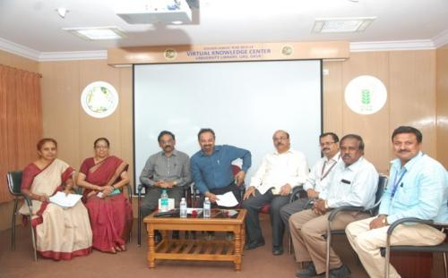 "User Awareness Programme on ""e-Resource in Agriculture""  at University Library, UAS, GKVK, Bangalore on 07th March 2019"